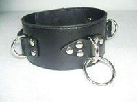 Cheap Black pu Leather Collar bondage collars Harness Leather Bandage Body Single Belt collar Free shipping A004 AA