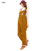 Wholesale Corduroy Overalls Bear Maternity Pants Maternity Fashion Maternity Autumn