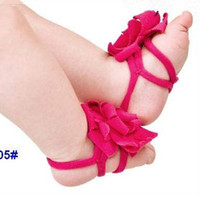 Unisex baby slippers crochet - Crochet Shoes Fashion Multicolor Flower Baby Sandals Infant Shoes Ankle Flowers Toddler Footwear Children Shoes Kids Foot Flower Slipper