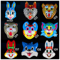 Wholesale family games Masks Children s plastic cartoon mask animals models of optional mask latex halloween party Hot Sale