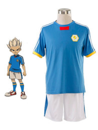 Wholesale Cool Inazuma Eleven Japanese Team Summer Football Boys Trikot Cosplay Costume dresses u9 cQn