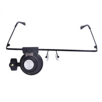 Wholesale 20X Glasses Type Watch Repair Magnifier with LED Light C383
