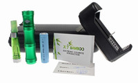 Electronic Cigarette bamboo technologies - 2013 Technology Design X7 Bamboo Shape Variable Voltage E Cigarette Mechanical Mod with Protank for Green Smoking Life from Opec
