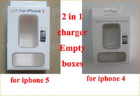 Wholesale For iphone iphone s wall charger and cable in retail carton box cables packaging boxes Empty pagckages