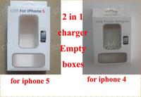 al por mayor iphone cargador de cartón-Para iphone 5, iphone 4 4s cargador de pared y cable 2 en 1 embalaje caja de cables, cajas de empaquetado del Vacío pagckages