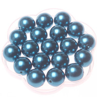 Round navy acrylic beads 20mm - mm Navy Blue acrylic pearl beads for decoration