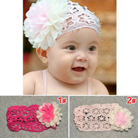Wholesale 2013 South Korean style cute double color flower lace headdress flower colors material benefit hair band