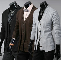 Men Cotton Polo 2013 Spring New Men's Slim knitted cardigan sweater men's casual outside