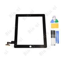 For Apple iPhone YL-001  High Quality OEM Touch Screen Panel With Digitizer Replacement For iPad 2 3 4 With Free Tools Free Shipping