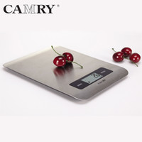 Wholesale 5KG CAMRY Electronics Food balance Kitchen Scale with Super slim Stainless Steel Platform can measure volume of water and milk