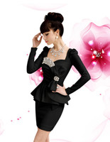 other Square Mini Sexy Womens Elegant Puff Sleeve Beads Peplum Cocktail Evening Mini Dress GL