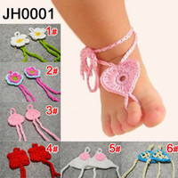 Wholesale The European and American style infants and children foot flower pure hand woven baby foot flower Cute cheap girls accessories