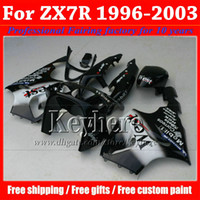 Plastic body work fairing set for KAWASAKI Ninja 96 97 - 03 Z...