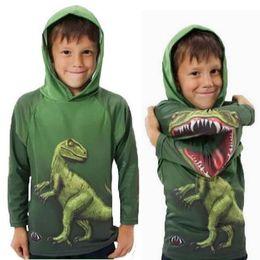 Wholesale Kids Sweatshirts Children Casual Coat Boys Hoodie Hoody Sweatshirt Fashion Green Hoodie Boys Clothes Long Sleeve Hooded Tops Child Clothing