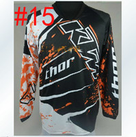 Wholesale KTM thor T shirt Race Motocross motorcycle jersey moto clothing T Shirts Racing Cross country jerseys riding shirt off road jerseys