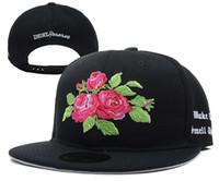 black cap - D9 Reserve Snapbacks Black Cotton Flowers hip pop street headwear sports hats adjustable designer caps top quality cheap