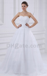 Ball Gown Wedding Dress White Color Organza Real Image Picture