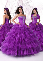 Wholesale 2015 New arrival Simple Elegant Luxurious Strapless Beads Sequin Ball Gown Lace up Floor Length Quinceanera Dress