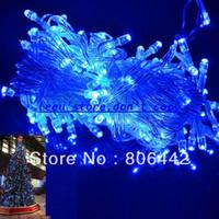 Wholesale 10M LED Blue Lights Decorative Christmas Party Festival Twinkle String Lights Bulb V EU TK0199