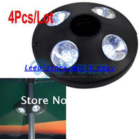 Wholesale 4Pcs Portable LED Bulbs Garden Parasol Light Patio Outdoor Camping Lamp Tent Umbrella Light