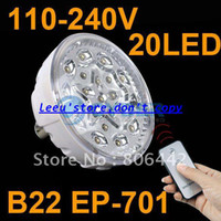 Wholesale New Rechargeable Emergency Bayonet Socket LED Light Lamp B22 Bulb Remote Control EP