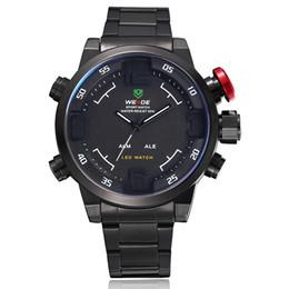 original weide quartz watch wristwatch water resistant led digital display luxury fashion black military watches