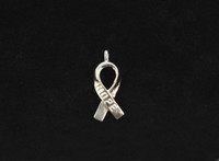 Wholesale 140PCS Bright Silver Cancer Awareness HOPE Ribbon Charms A5104SP