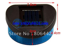 Wholesale Outdoor Solar Powered Wall Stairway Mount Cool Fence Garden Light Lamp Blue
