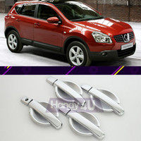car door handle - 8Pcs For Nissan Qashqai Chrome Silver Cover Door Handle Cup Bowl Kit Vehicle Car Styling Decoration