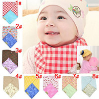 Wholesale Boys Girls Bandana Dribble Bib for babies and Toddlers Bandana Triangle Bibs Muslin