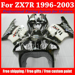 ABS high quality black West fairing kit for ZX7R 1996-2003 KAWASAKI Ninja ZX 7R motobike parts 96 97 98-03 ZX-7R with 7 gifts hp65