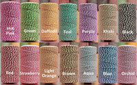 Wholesale PROMOTIOM Biodegradable Ply Cotton Bakers Twine yard spool For Gift Box wrapping by DHL FEDEX EMS