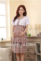 Wholesale 2015 new arrival pregnant woman dress cute feeding clothes Pregnant women nightgown Maternity dress