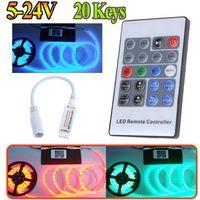 Wholesale 2015 free ship V Keys Wireless RF Remote RGB LED Controller Mini LED Strip Dimmer for LED Strip