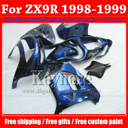 Free shipping KAWASAKI fairing Ninja ZX9R 98 ZX 9R 9 ABS pure blue motorcycle parts fairings 1998 1999 ZX-9R with 7 gifts gj18