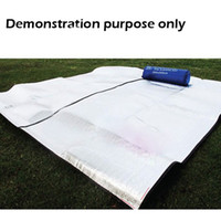 Wholesale 10pcs x cm Aluminum Backing Insulating Insulation Foam Camping Mat Blanket Cushion Pad for Camping Hiking