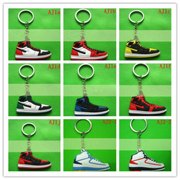 2013 shoes keychain Fan souvenirs PVC 2D Air retro shoes sneaker keychain shoes key chain keychain gifts 200 piece