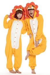 Wholesale Lion King Onesie Kigurumi Cosplay Animal Costume Adult Winter Pyjamas size S XL