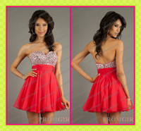 Hot Red Chiffon Short Homecoming Dresses Under 100$ 2013 Bli...