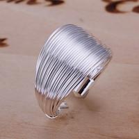 TOP vente 925 bijoux en argent Bague multi style Lien Silver Ring Mode Femmes Anneaux Prix Factory Ring Taille réglable