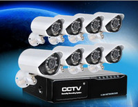 Wholesale DHL free CH H Surveillance DVR Day Night Weatherproof Security Camera CCTV System H204