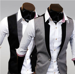 Wholesale 2013 new arrive men s Outwear fack Men s Vests wth sleeve