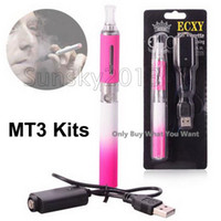 Wholesale Vogue Pink Graduated mAh Detachable Electronic Cigarette MT3 Bottom Heating Coil Visible Window Kanger Atomizer ohm ml Blister Pack