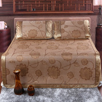 Wholesale Sleeping Mat Ice Silk Mat Rattan Mats Datura Summer New Style Adult Sleeping Mat