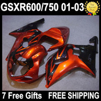 7gifts Hot Orange of SUZUKI GSX R600 R750 K1 01 02 03 GSX- R6...