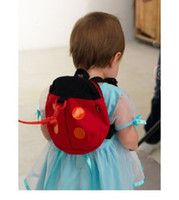 Unisex lady bug - Red color Cute lady bugs small school bags cartoon shoulders backpack for toddles walking wings