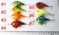 Wholesale 20pcs FISHING LURES CRANKBAITS HOOK BASS Crank baits CM G hooks mm Hard Minow Fishing CB024