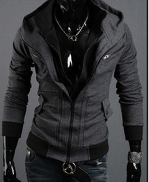 Wholesale Men jackets Hoodies CSOL hoody tattooing Assassins Creed street fashion cardigan men s hoody jacket dark gray hot sales men coat