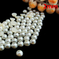 Wholesale mm pearl white half round flatback pearls
