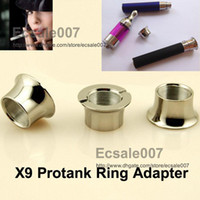 Wholesale Super Electronic Cigarette E Cigarette Accessories Parts Vivi Nova X9 Pro Tank Overlength Flat type Holder ml Adapter Ring To Ego Battery